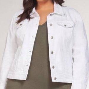 DEX White Denim Distressed Jacket